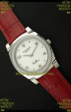 Rolex Cellini Japanese Replica Watch in Numeral and Stick Hour Markers