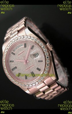 Rolex Day Date Japanese Automatic Rose Gold Watch