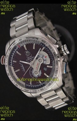 Tag Heuer Grand Carrera Calibre 36 Swiss Chronograph Watch in Brown Dial