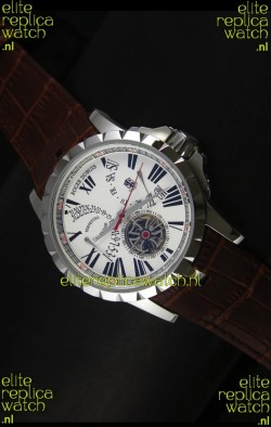 Roger Dubuis Excalibur Calendar Watch in White Dial